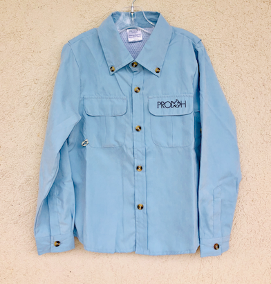 Prodoh Fishing Shirt, Baby Blue - Posh Tots Children's Boutique