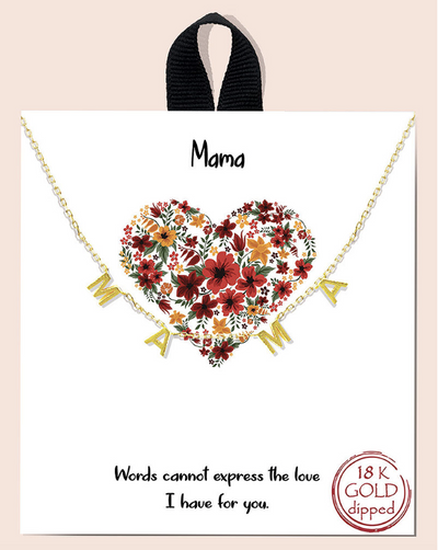Spaced Mama Necklace - Posh Tots Children's Boutique