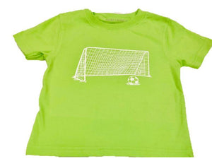 T-Shirt, S/S Soccer Goal - Posh Tots Children's Boutique