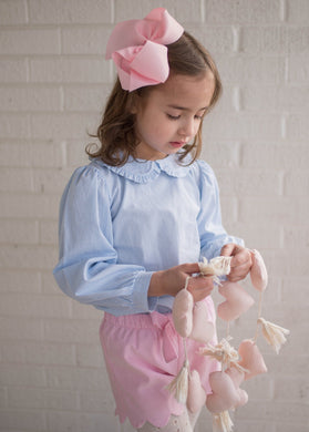 Stella Peter Pan Top - Pink Gingham - Posh Tots Children's Boutique