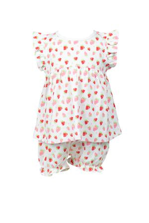 Strawberries Bloomer Set - Posh Tots Children's Boutique