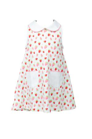 Strawberries A-Line Dress - Posh Tots Children's Boutique