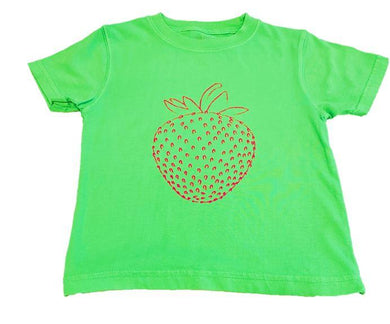 T-Shirt, S/S Strawberry - Posh Tots Children's Boutique