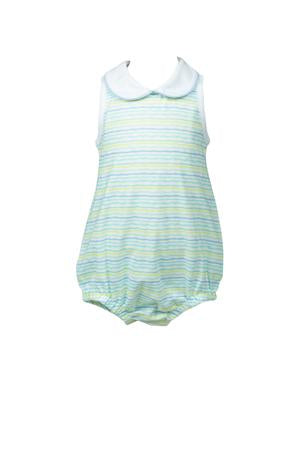 Striped Boy Bubble - Posh Tots Children's Boutique
