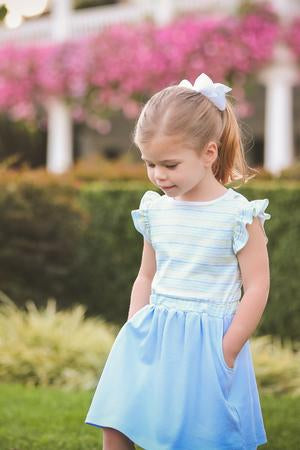 Striped Edith Waist Dress - Posh Tots Children's Boutique