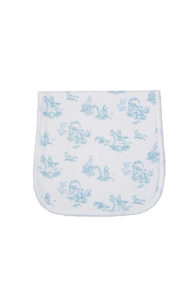 Blue Toile Burp Cloth - Posh Tots Children's Boutique