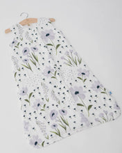 Load image into Gallery viewer, Cotton Muslin Sleep Bag - Blue Wildflower - Posh Tots Children's Boutique