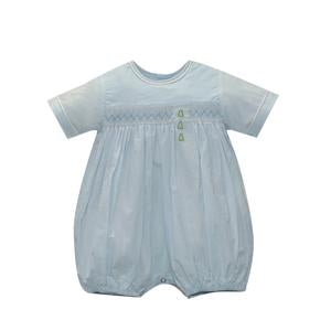 Boy Bubble with Tree Embroidery - Posh Tots Children's Boutique