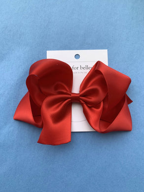 Boutique Satin Hair Bows, Medium - Posh Tots Children's Boutique