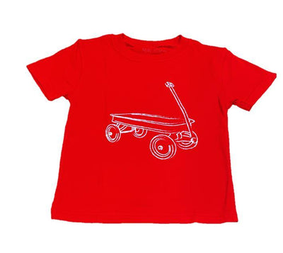 T-Shirt, S/S Red Wagon - Posh Tots Children's Boutique