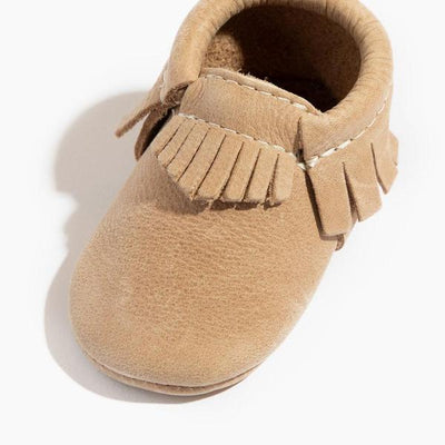 Weathered Brown Mini Sole Moccs - Posh Tots Children's Boutique