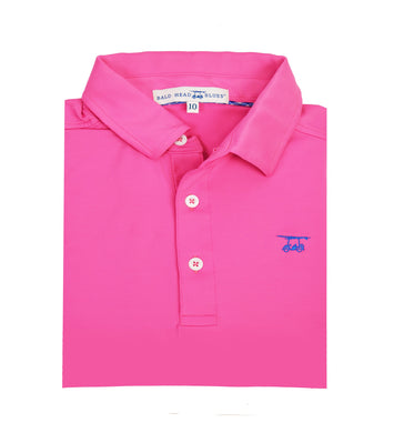 Albatross Polo - Azalea Pink - Posh Tots Children's Boutique