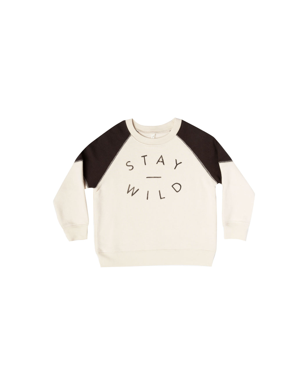 Stay Wild Raglan Sweatshirt - Posh Tots Children's Boutique