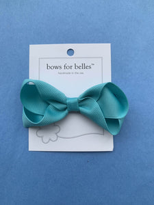 Small Grosgrain Hair Bow - Posh Tots Children's Boutique
