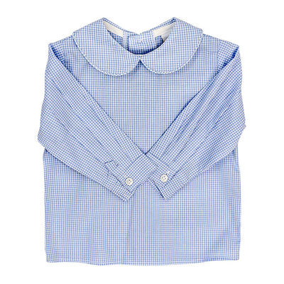 Light Blue Check Shirt - Posh Tots Children's Boutique