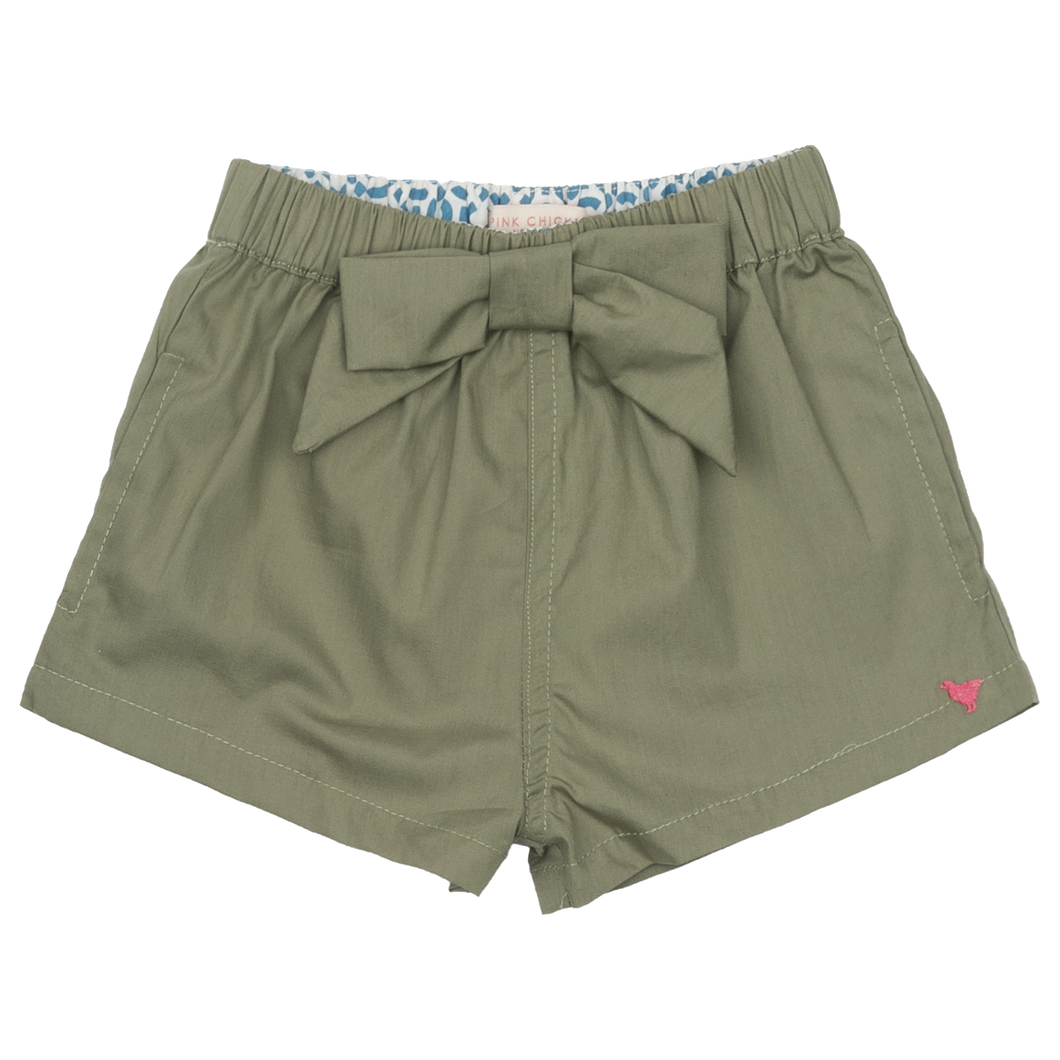 Camp Bow Short, Olive - Posh Tots Children's Boutique