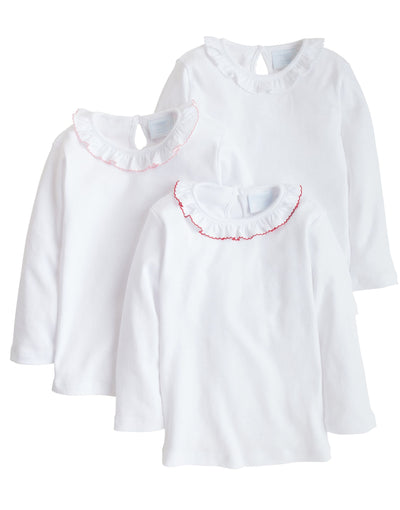 Caroline Knit White Blouse - Posh Tots Children's Boutique