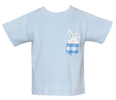 Bunny in Pocket Applique Shirt