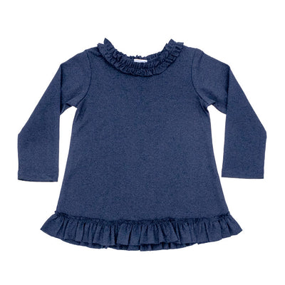Betsy Top - Navy Knit - Posh Tots Children's Boutique