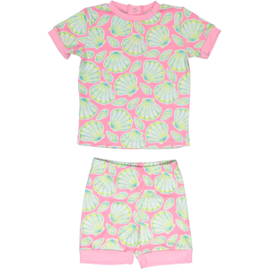Dancing Shell Kids Jammies - Posh Tots Children's Boutique