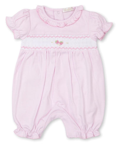 Strawberry Soiree Smocked Short Playsuit - Posh Tots Children's Boutique