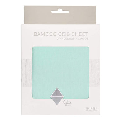 Bamboo Crib Sheet in Sea Mist