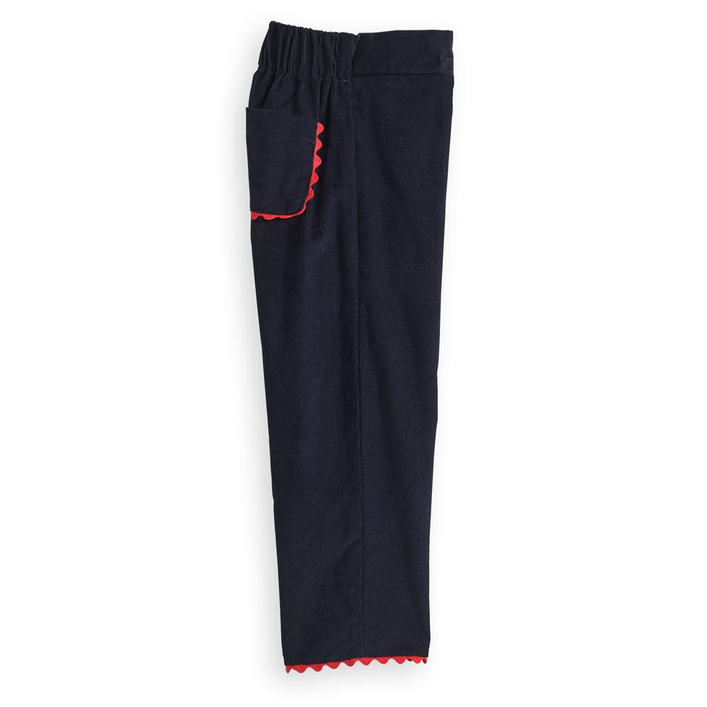 Lulu Navy Corduroy Pant - Posh Tots Children's Boutique
