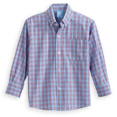 Button Down Shirt, Jamison Plaid - Posh Tots Children's Boutique