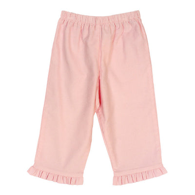 Pink Corduroy Pants w/Ruffle - Posh Tots Children's Boutique