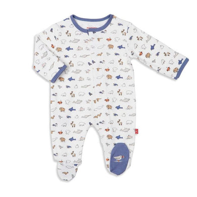 NB Glacier Bay Magnetic Footie - Posh Tots Children's Boutique