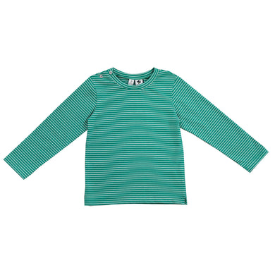 Henry Long Sleeve Tee - Green Stripe