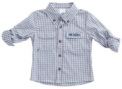 Fishing Shirt - Igneous Grey - Posh Tots Children's Boutique