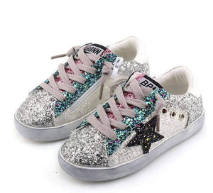 STAR GIRL GLITTER SNEAKERS - Posh Tots Children's Boutique