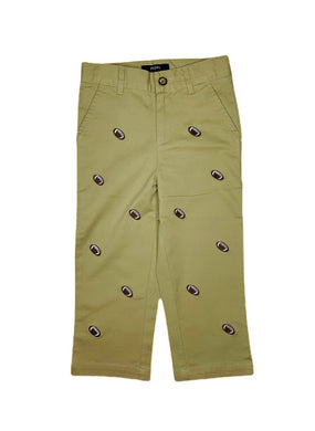 Embroidered Football Chinos - Posh Tots Children's Boutique