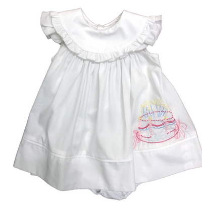 Birthday Cake Dress Set - Posh Tots Children's Boutique