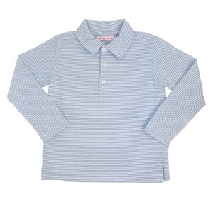 Long Sleeve Polo - Grey Stripe