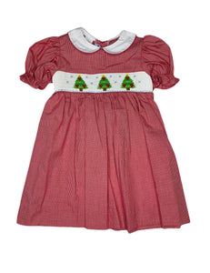 Smocked Christmas Tree Dress - Posh Tots Children's Boutique