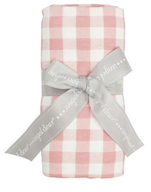 Bamboo Swaddle -Pink Gingham - Posh Tots Children's Boutique