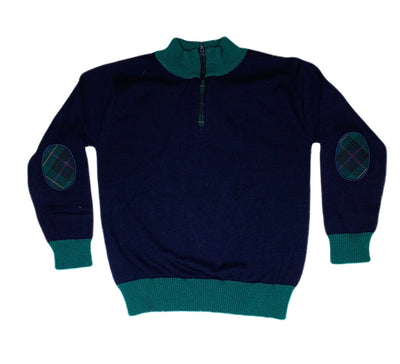 Navy Half Zip Sweater - Posh Tots Children's Boutique