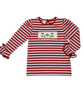 HO HO HO! Smocked Shirt - Posh Tots Children's Boutique