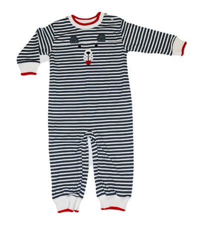 Stripe Longall with Bear Face - Posh Tots Children's Boutique
