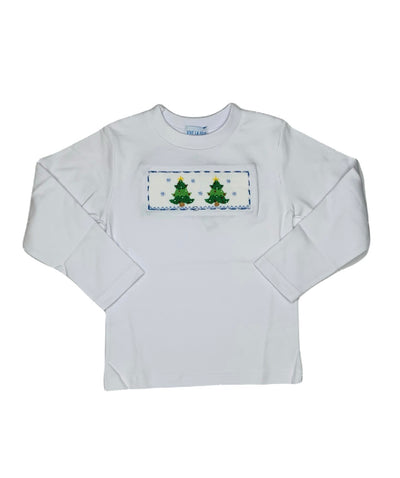 Christmas Tree Smocked Shirt - Posh Tots Children's Boutique