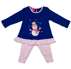 Snowman Tunic Top with Leggings - Posh Tots Children's Boutique