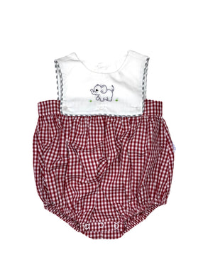 Burgundy Elephant Bubble - Boy - Posh Tots Children's Boutique