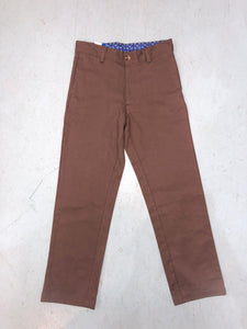 Brown Twill Champ Pant - Posh Tots Children's Boutique