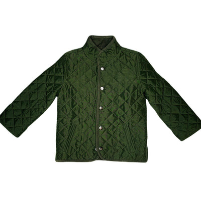Quilted Olive Jacket - Posh Tots Children's Boutique