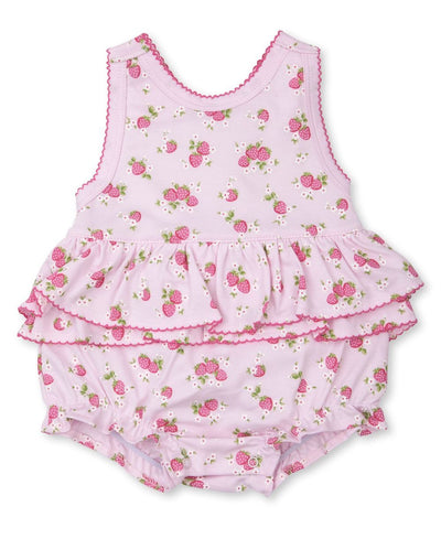 Strawberry Soiree Print Bubble - Posh Tots Children's Boutique