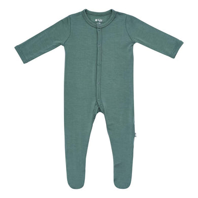 Snap Footie in Pine - Posh Tots Children's Boutique