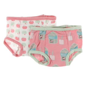 Training Pants Set - Natural Apples & Strawberry Milk - Posh Tots Children's Boutique