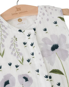 Cotton Muslin Sleep Bag - Blue Wildflower - Posh Tots Children's Boutique